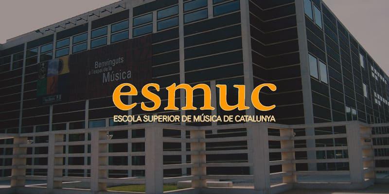 Esmuc es escuela superior de música de catalunya. Centro público y superior de estudios musicales de cataluña