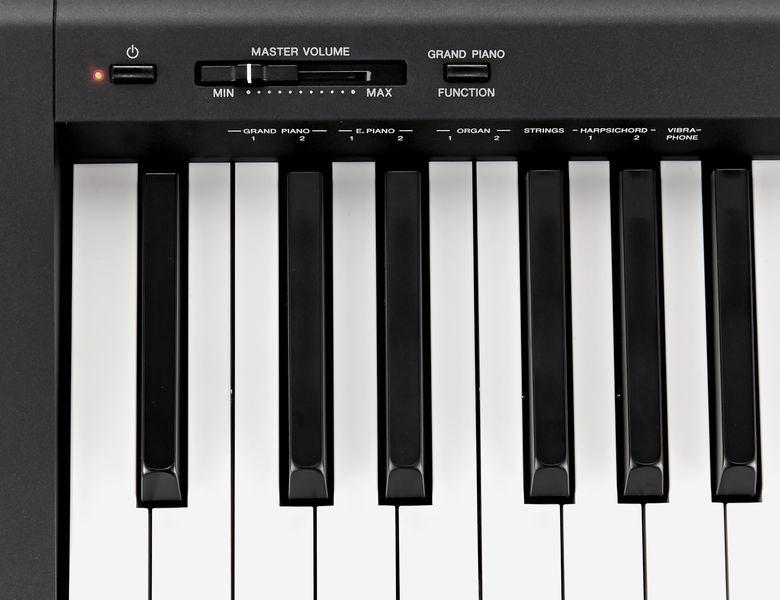 controles del piano yamaha p45